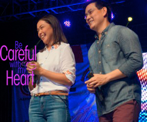 Richard & Jodi at the Kapamilya Karavan in Dagupan